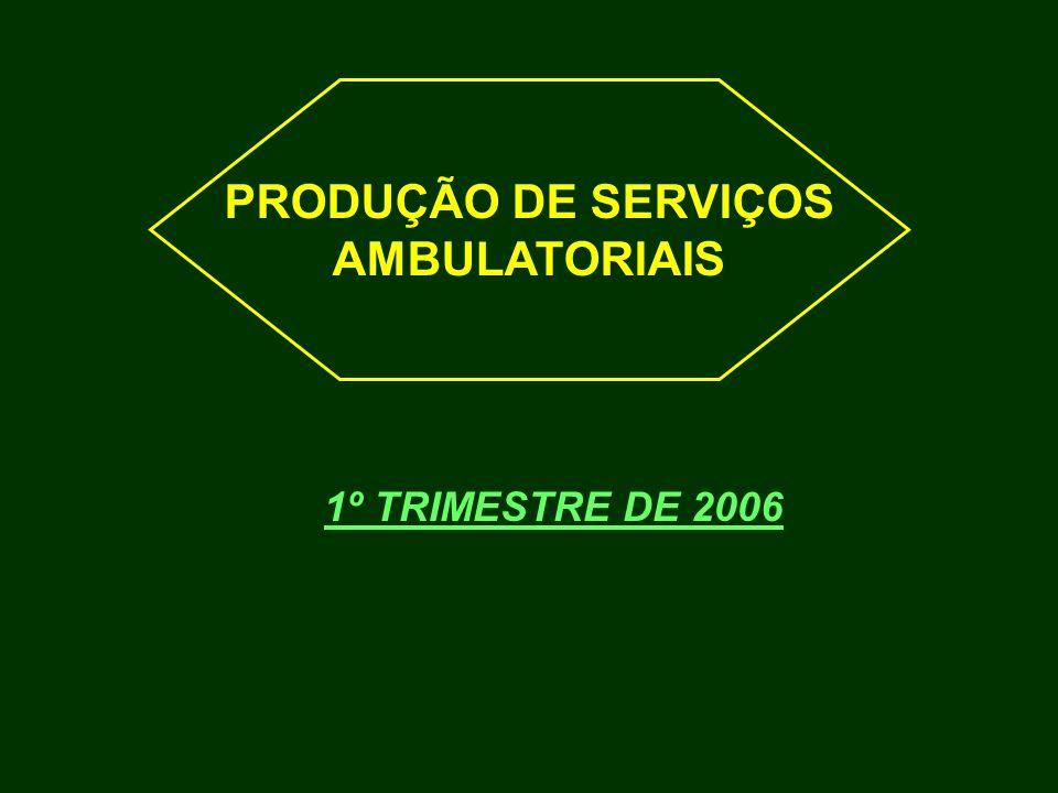 1º TRIMESTRE DE 2006 PRODUÇÃO DE SERVIÇOS AMBULATORIAIS