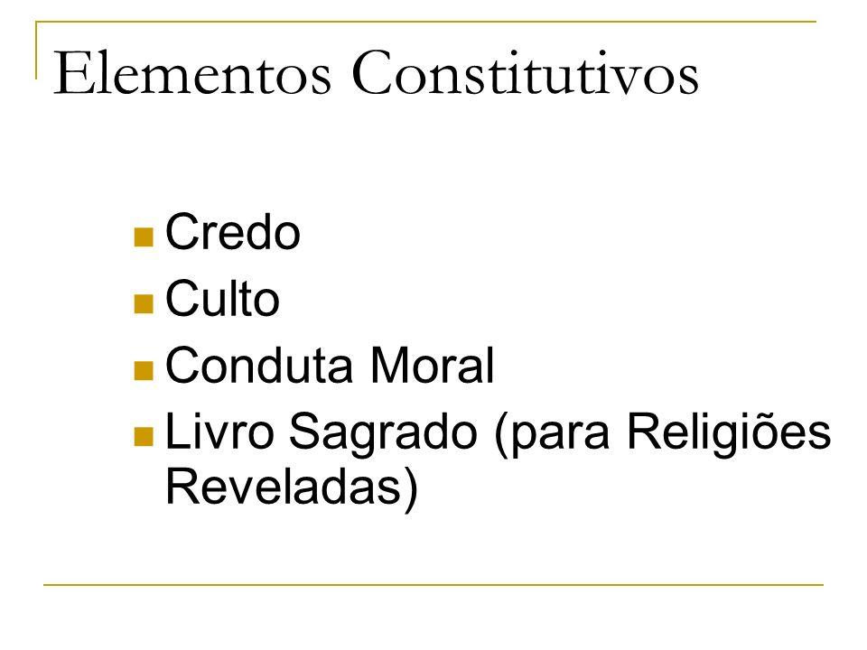 Elementos Constitutivos Credo Culto Conduta Moral Livro Sagrado (para Religiões Reveladas)