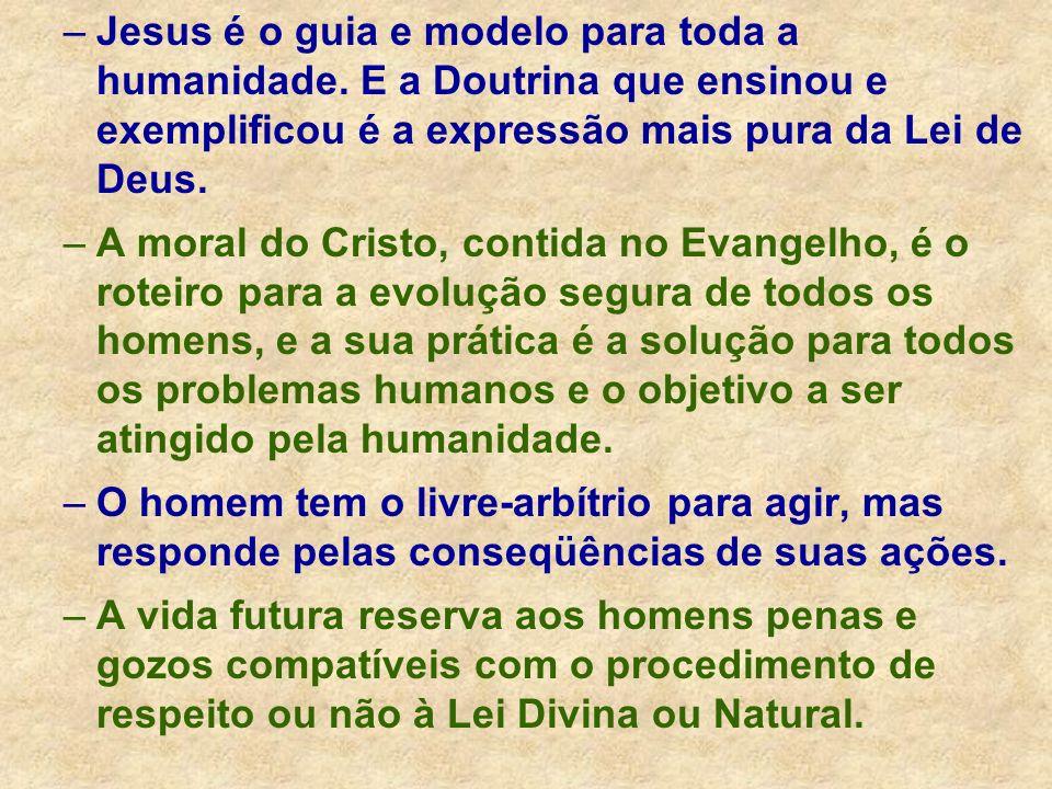 –Jesus é o guia e modelo para toda a humanidade. E a Doutrina que ensinou e exemplificou é a expressão mais pura da Lei de Deus. –A moral do Cristo, c
