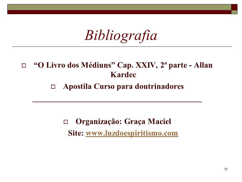 15 Bibliografia O Livro dos Médiuns Cap.
