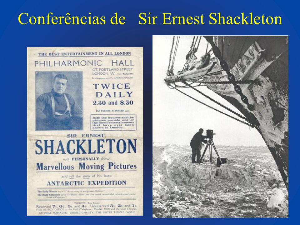 Conferências de Sir Ernest Shackleton