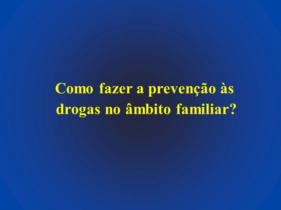 Como fazer a prevenção às drogas no âmbito familiar?