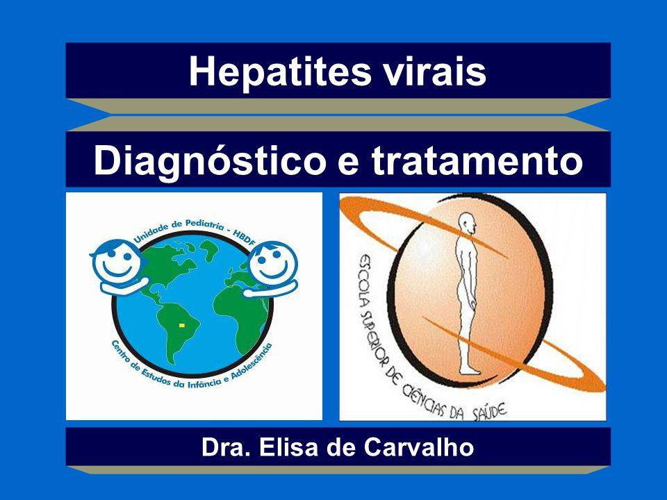 Hepatites virais Dra. Elisa de Carvalho Diagnóstico e tratamento