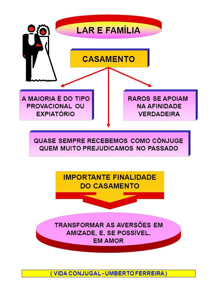 LAR - É O EDUCANDÁRIO DOMÉSTICO - É UMA CONQUISTA DO CASAL - NÃO HÁ LAR ONDE NÃO HAJAM MENTES UNIDAS TRABALHANDO EM RUMOS E OBJETIVOS IGUAIS O LAR EXIGE CONCESSÃO TOLERÂNCIA RENÚNCIA FRATERNIDADE ( FILHOS COMO EDUCÁ-LOS - ROQUE JACINTHO )