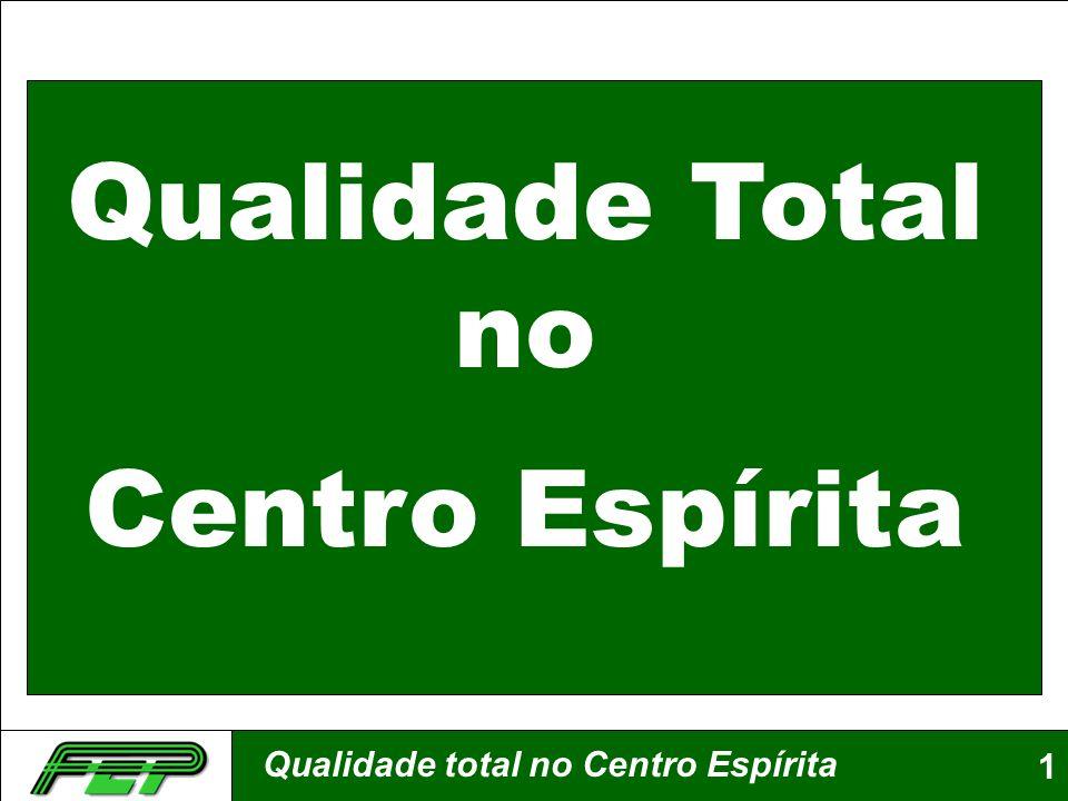 Qualidade total no Centro Espírita1 Qualidade Total no Centro Espírita