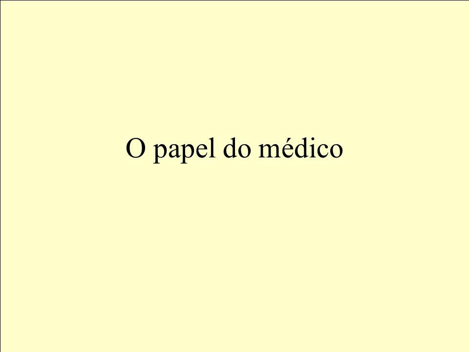 O papel do médico