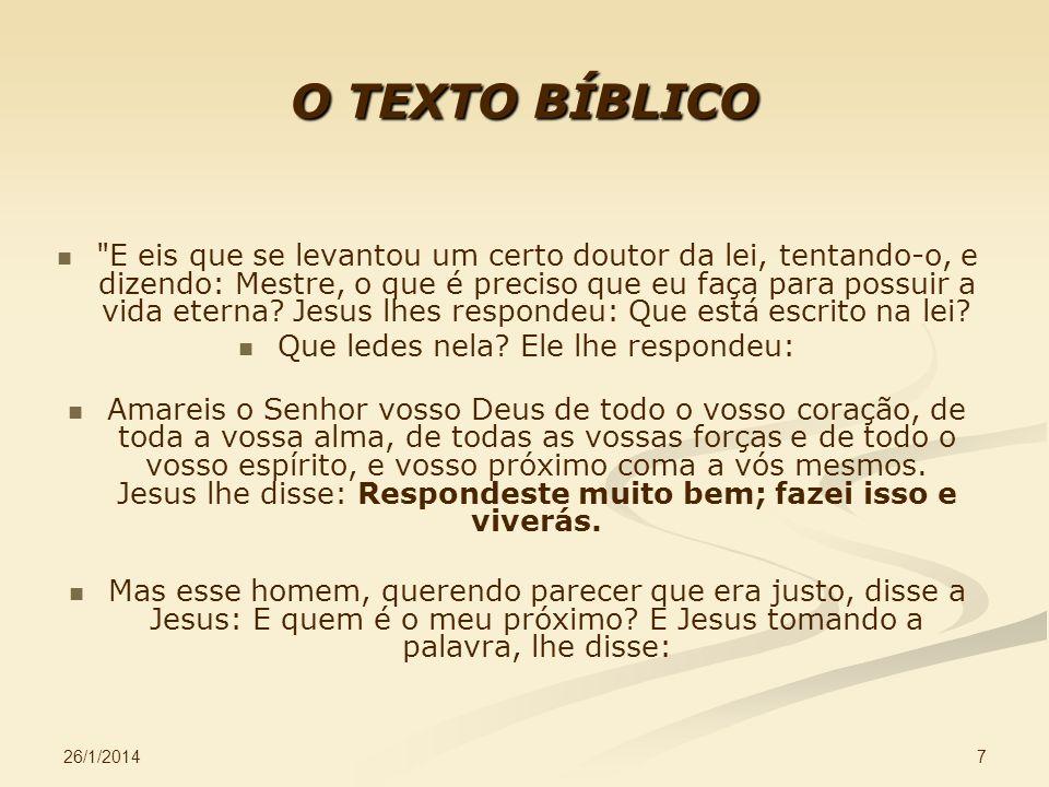 26/1/2014 7 O TEXTO BÍBLICO