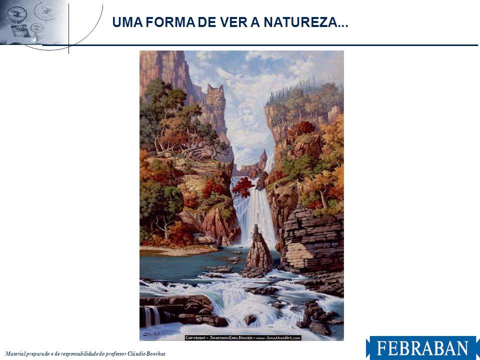 Material preparado e de responsabilidade do professor Cláudio Boechat UMA FORMA DE VER A NATUREZA...