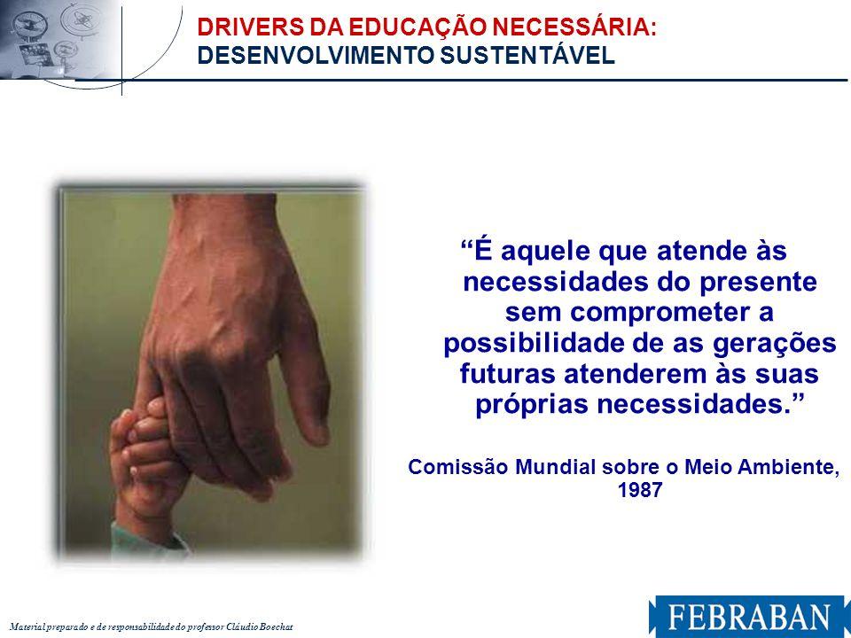 Material preparado e de responsabilidade do professor Cláudio Boechat É aquele que atende às necessidades do presente sem comprometer a possibilidade