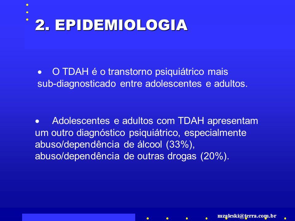 O TDAH é o transtorno psiquiátrico mais sub-diagnosticado entre adolescentes e adultos.