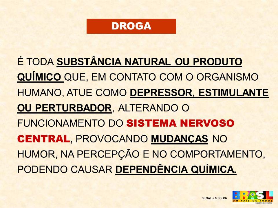 SENAD www.senad.gov.br OBID OBSERVATÓRIO BRASILEIRO DE INFORMAÇÕES SOBRE DROGAS www.obid.senad.gov.br VivaVoz 0800-510-0015 LIGUE PRA GENTE.