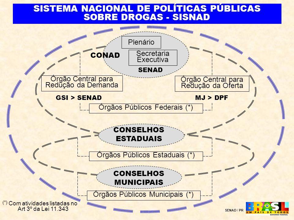 Plenário Secretaria Executiva CONAD Órgão Central para Redução da Demanda Órgão Central para Redução da Oferta MJ > DPFGSI > SENAD SENAD Órgãos Públic