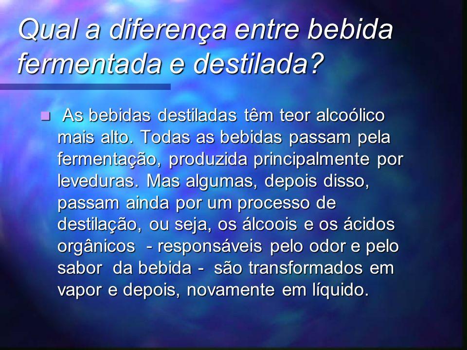 Qual a diferença entre bebida fermentada e destilada.