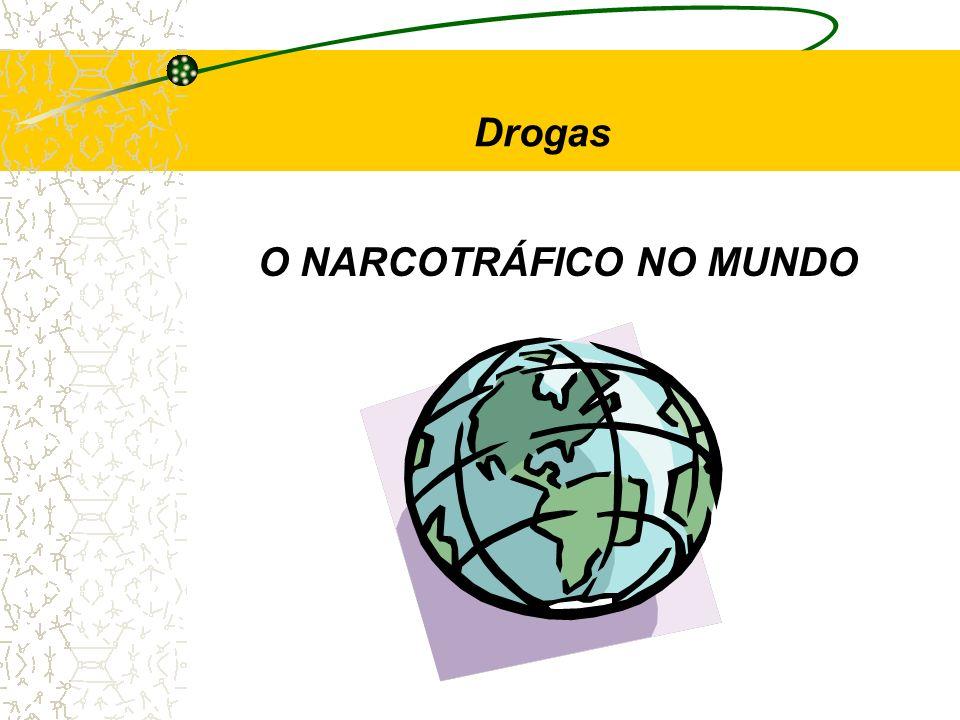 O NARCOTRÁFICO NO MUNDO Drogas