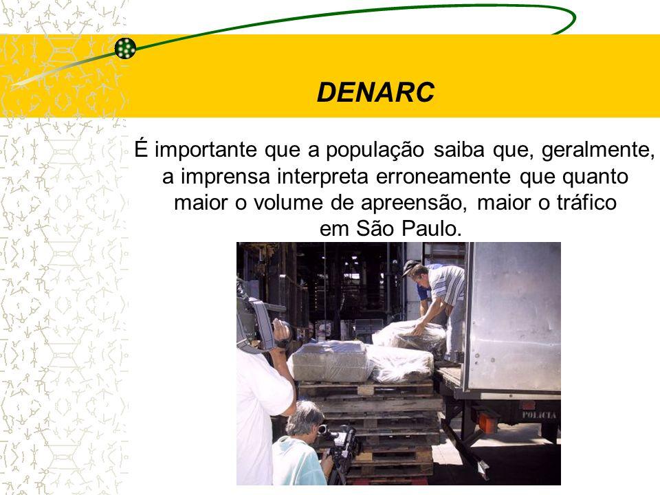 É importante que a população saiba que, geralmente, a imprensa interpreta erroneamente que quanto maior o volume de apreensão, maior o tráfico em São