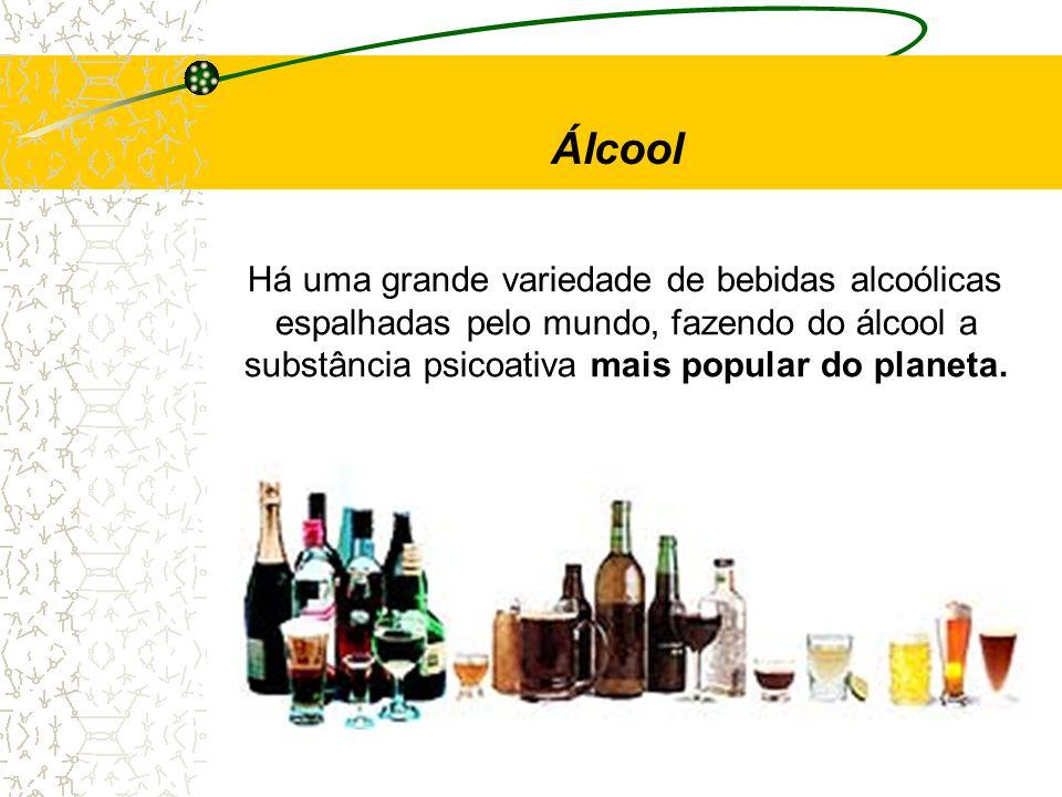 Há uma grande variedade de bebidas alcoólicas espalhadas pelo mundo, fazendo do álcool a substância psicoativa mais popular do planeta. Álcool