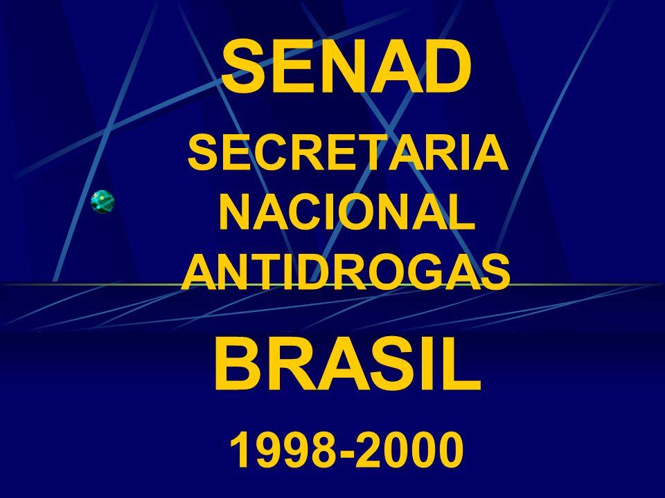 SENAD SECRETARIA NACIONAL ANTIDROGAS BRASIL 1998-2000