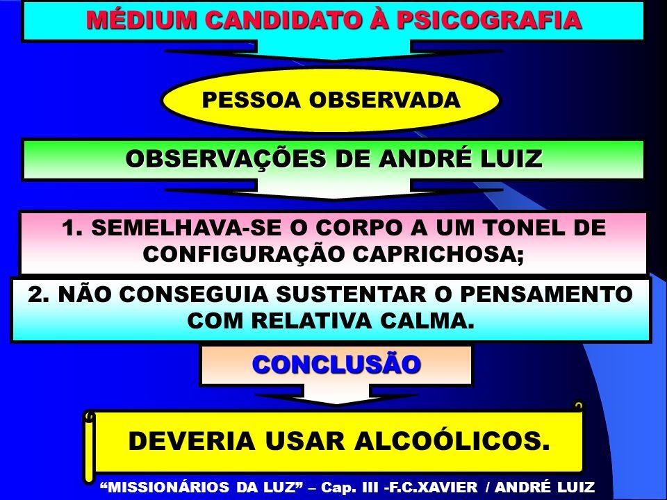 OS ALCÓOLICOS ANIQUILAM-NO VAGAROSAMENTE MISSIONÁRIOS DA LUZ – Cap.