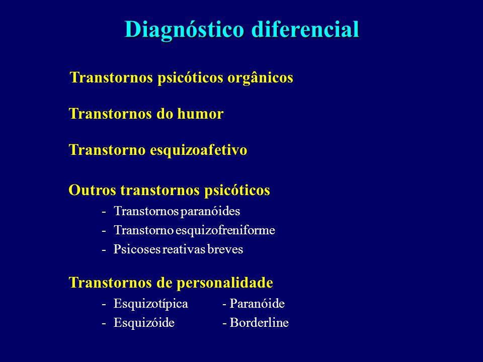 Curso heterogêneo: Pode haver deterioração progressiva, mas não é a regra Mais de 50% de pacientes crônicos melhoram a longo prazo (M. Bleuler, 1972)