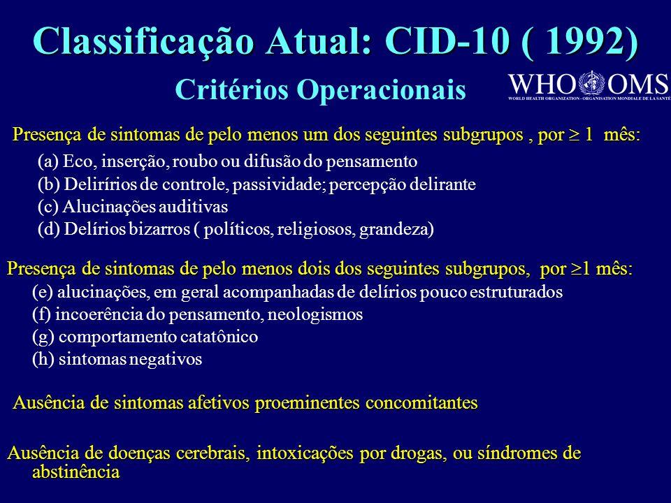 Diagnóstico diferencial Transtornos psicóticos orgânicos Transtornos do humor Transtorno esquizoafetivo Outros transtornos psicóticos -Transtornos par