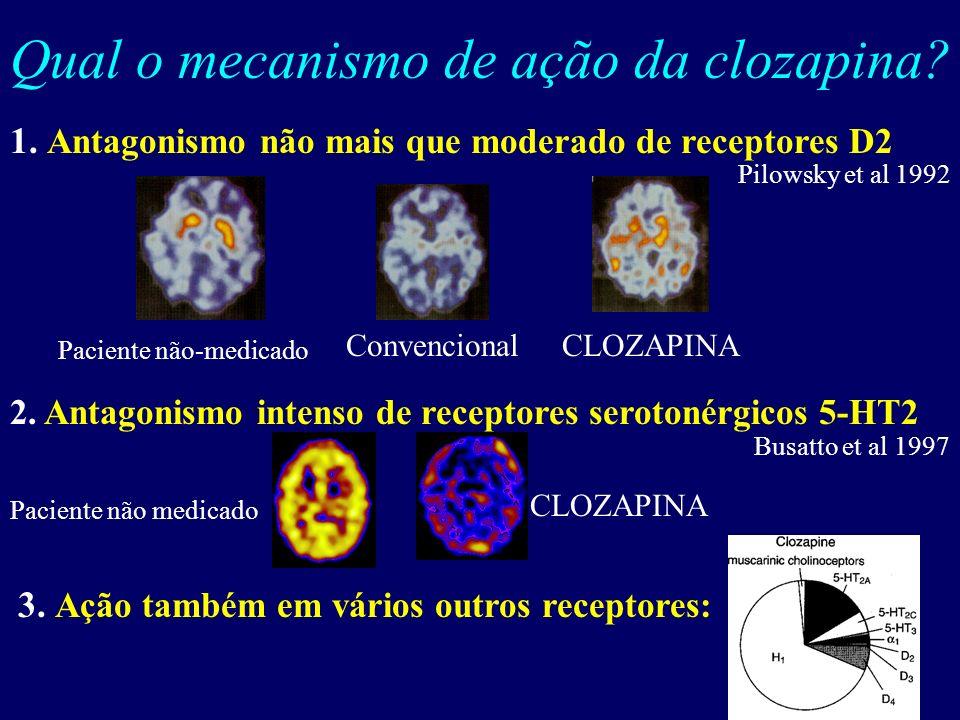 O advento da CLOZAPINA e os antipsicóticos de nova geração Clozapina (CLOZ) sintetizada no início dos anos 60 (Hippius, 1989) Eficaz como antipsicótic