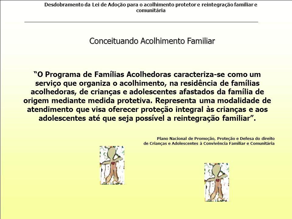 Desdobramento da Lei de Adoção para o acolhimento protetor e reintegração familiar e comunitária O serviço deve organizar ambiente próximo de uma roti