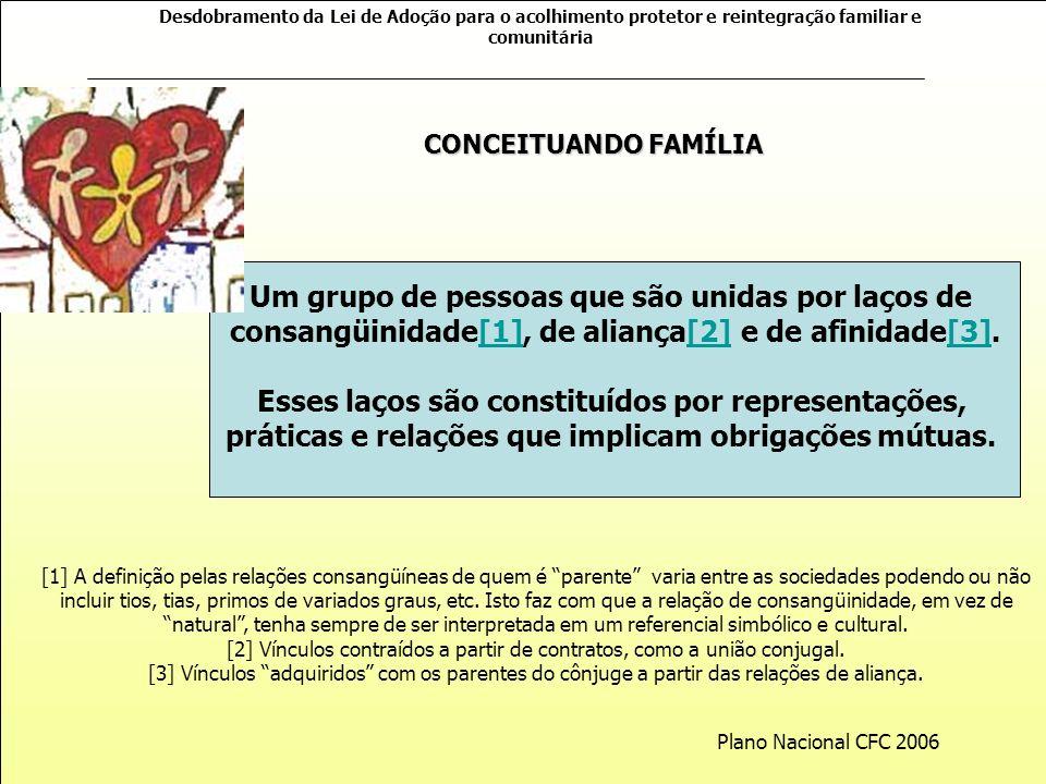 Desdobramento da Lei de Adoção para o acolhimento protetor e reintegração familiar e comunitária O MOVIMENTO OPERACIONAL DO PROGRAMA
