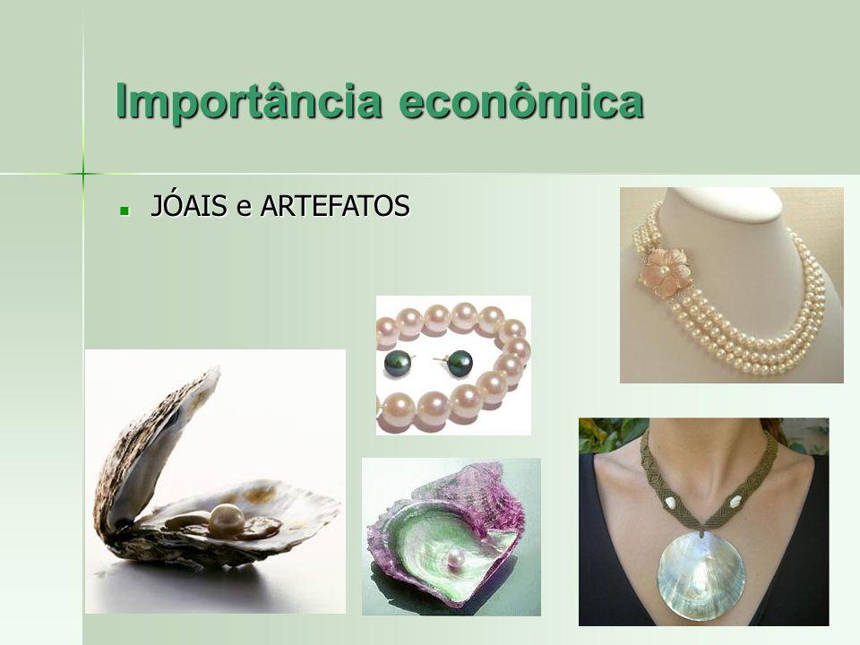 Importância econômica JÓAIS e ARTEFATOS JÓAIS e ARTEFATOS