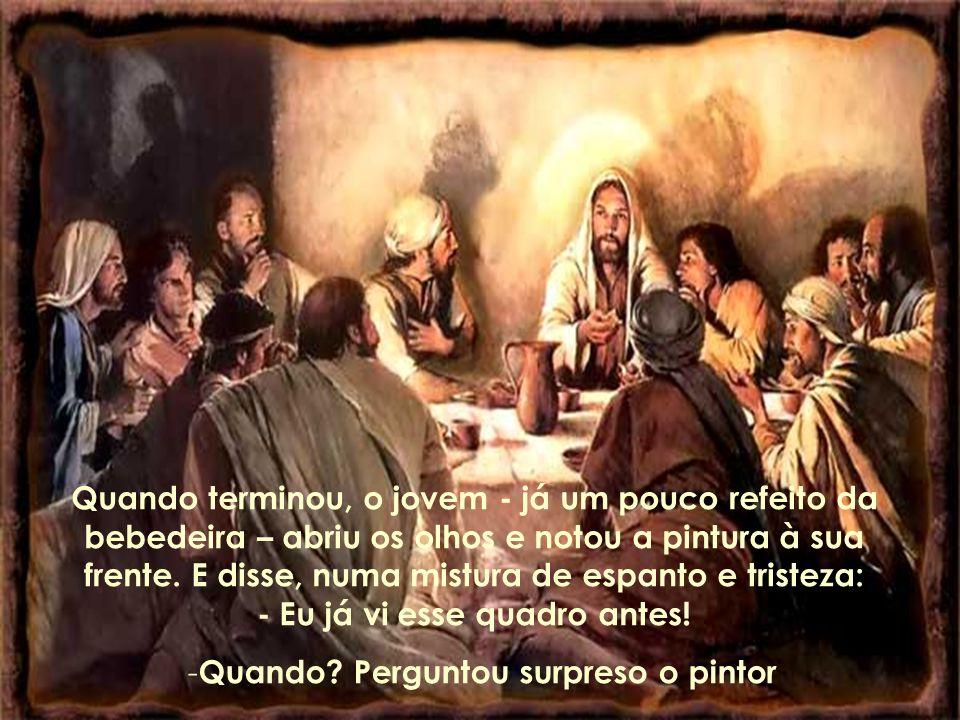Ele então copiava as linhas da impiedade, do pecado, do egoísmo, tão bem delineadas na face do mendigo, que mal conseguia parar em pé.