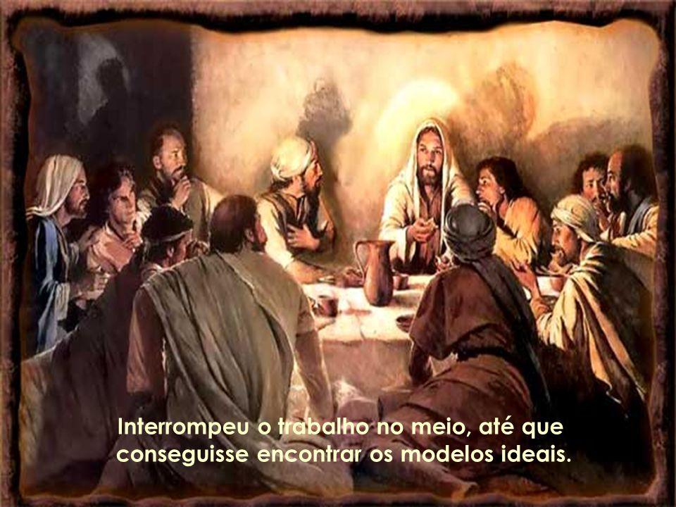 Ao conceber este quadro, o pintor deparou-se com uma grande dificuldade: precisava pintar o bem - na imagem de Jesus, e o mal - na figura de Judas, o amigo que resolvera traí-lo durante o jantar.