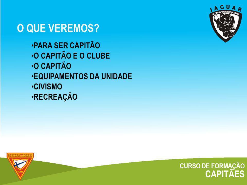 CURSO DE FORMAÇÃO CAPITÃES O CAPITÃO E O CLUBE PALESTRANTE Magnus H.