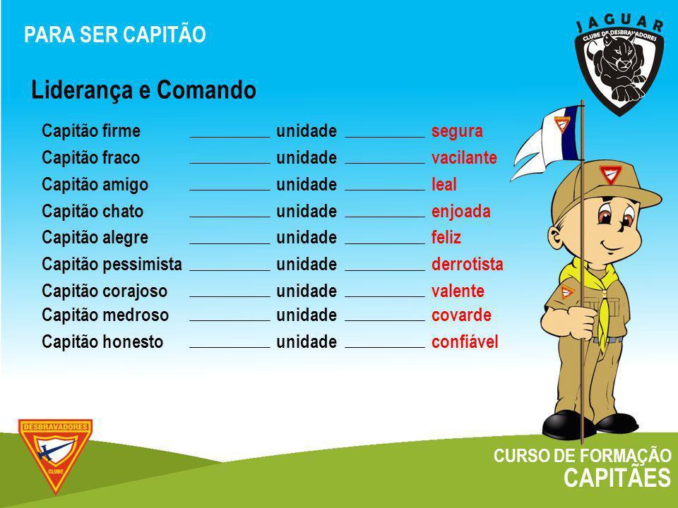 CURSO DE FORMAÇÃO CAPITÃES Cargos COZINHEIRO: O CAPITÃO E O CLUBE O cozinheiro é responsável pelo material da cozinha da unidade e pelo cardápio nos acampamentos.