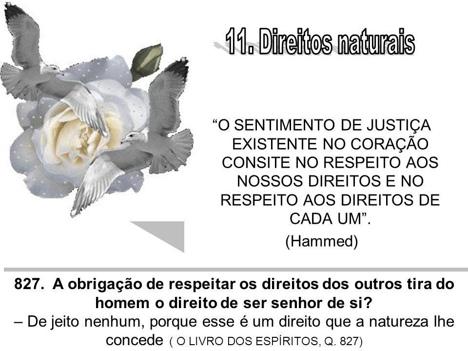 O SENTIMENTO DE JUSTIÇA EXISTENTE NO CORAÇÃO CONSITE NO RESPEITO AOS NOSSOS DIREITOS E NO RESPEITO AOS DIREITOS DE CADA UM. (Hammed) 827. A obrigação