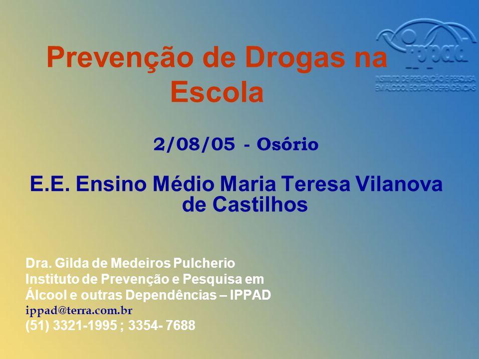 Prevenção de Drogas na Escola 2/08/05 - Osório E.E.