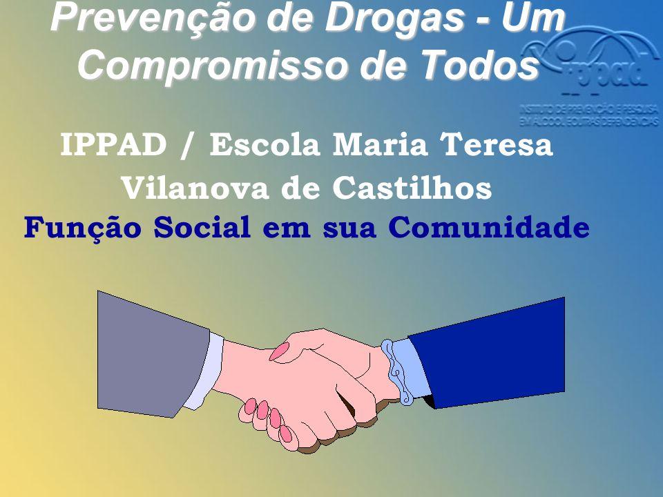 Prevenção de Drogas - Um Compromisso de Todos Prevenção de Drogas - Um Compromisso de Todos IPPAD / Escola Maria Teresa Vilanova de Castilhos Função Social em sua Comunidade