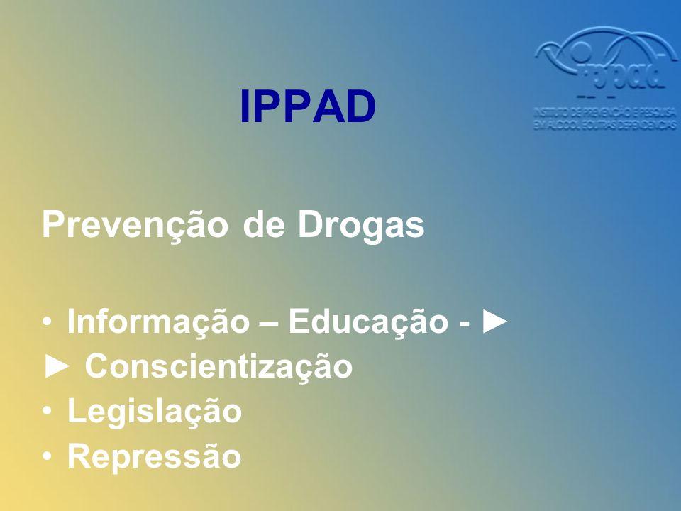 IPPAD Prevenção de Drogas Informação – Educação - Conscientização Legislação Repressão