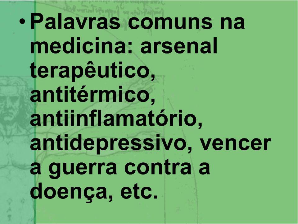 O PROCESSO DE SAÚDE/DOENÇA Essa é área de atuação da medicina ocidental com os tratamentos com medicamentos alopáticos, cirurgias e outras práticas que vão atuar exclusivamente no corpo físico.