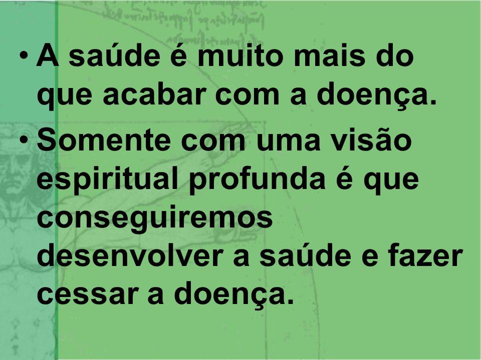 O PROCESSO DE SAÚDE/DOENÇA Espiritual – nível mais profundo da doença que é causada pelo distanciamento do espírito da própria espiritualidade e religiosidade.