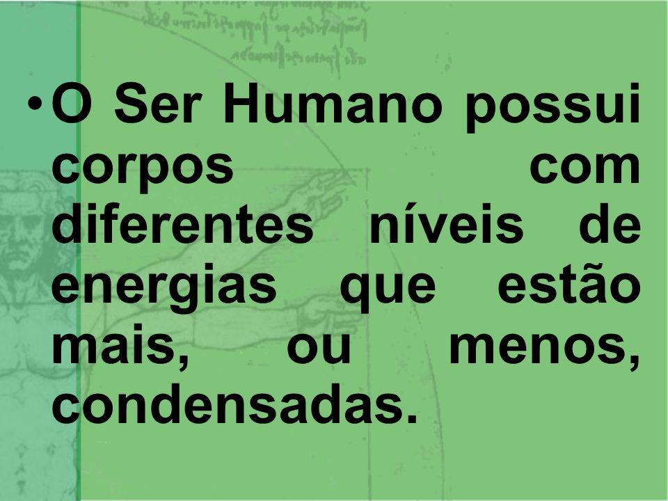 O Ser Humano é composto por 3 realidades: Essencial, Intermediária e Física.