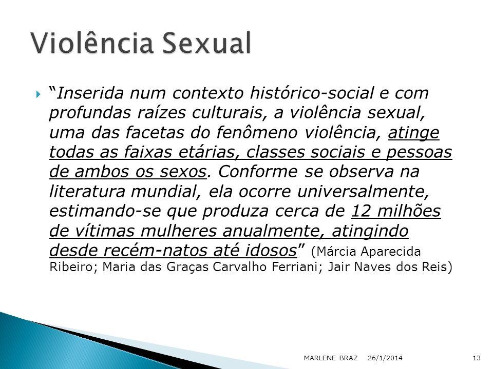 Inserida num contexto histórico-social e com profundas raízes culturais, a violência sexual, uma das facetas do fenômeno violência, atinge todas as fa
