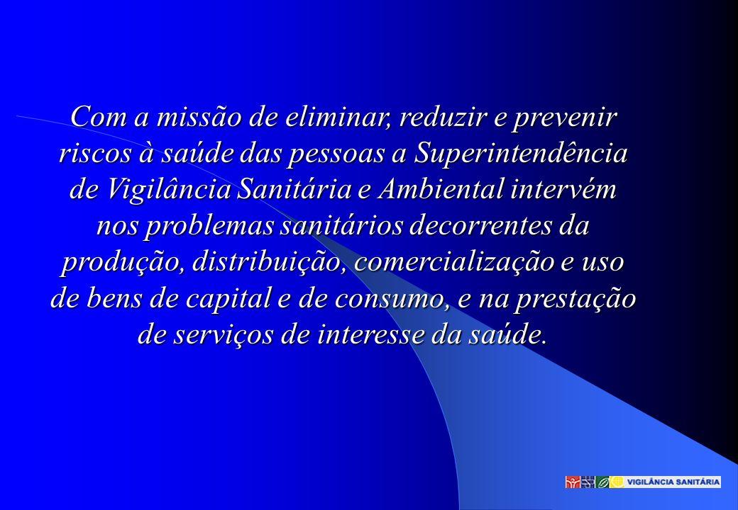 Com a missão de eliminar, reduzir e prevenir riscos à saúde das pessoas a Superintendência de Vigilância Sanitária e Ambiental intervém nos problemas
