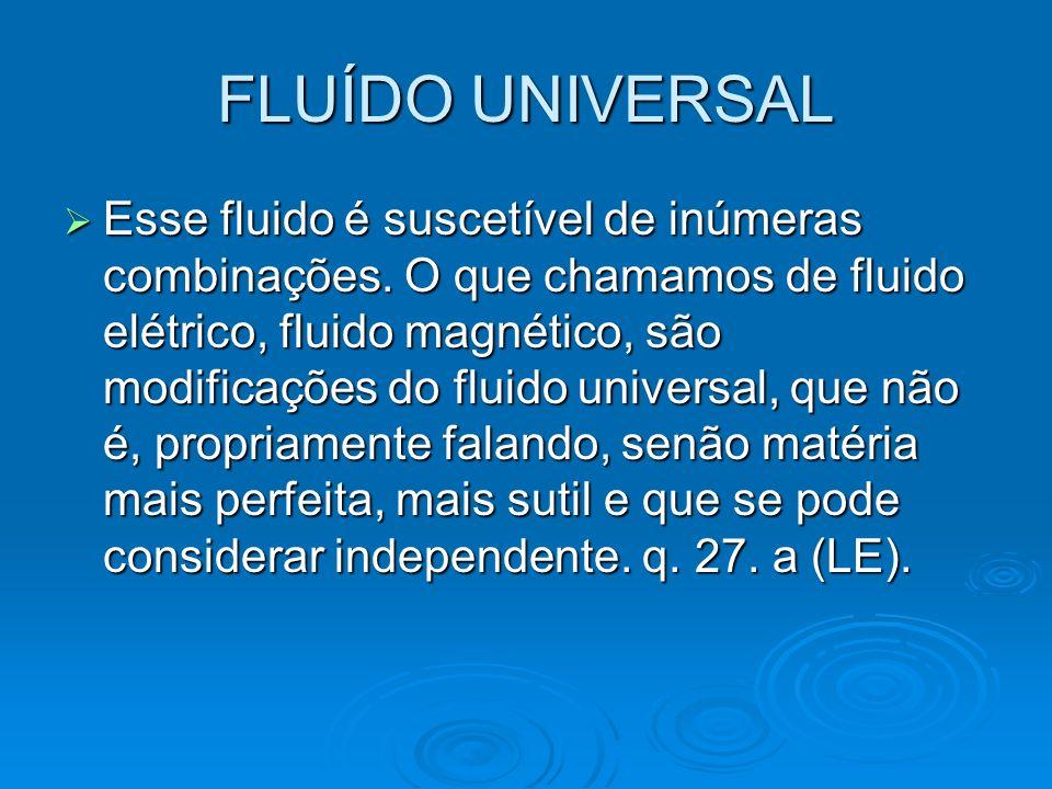 Elementos fluídicos A Gênese, cap.XIV.