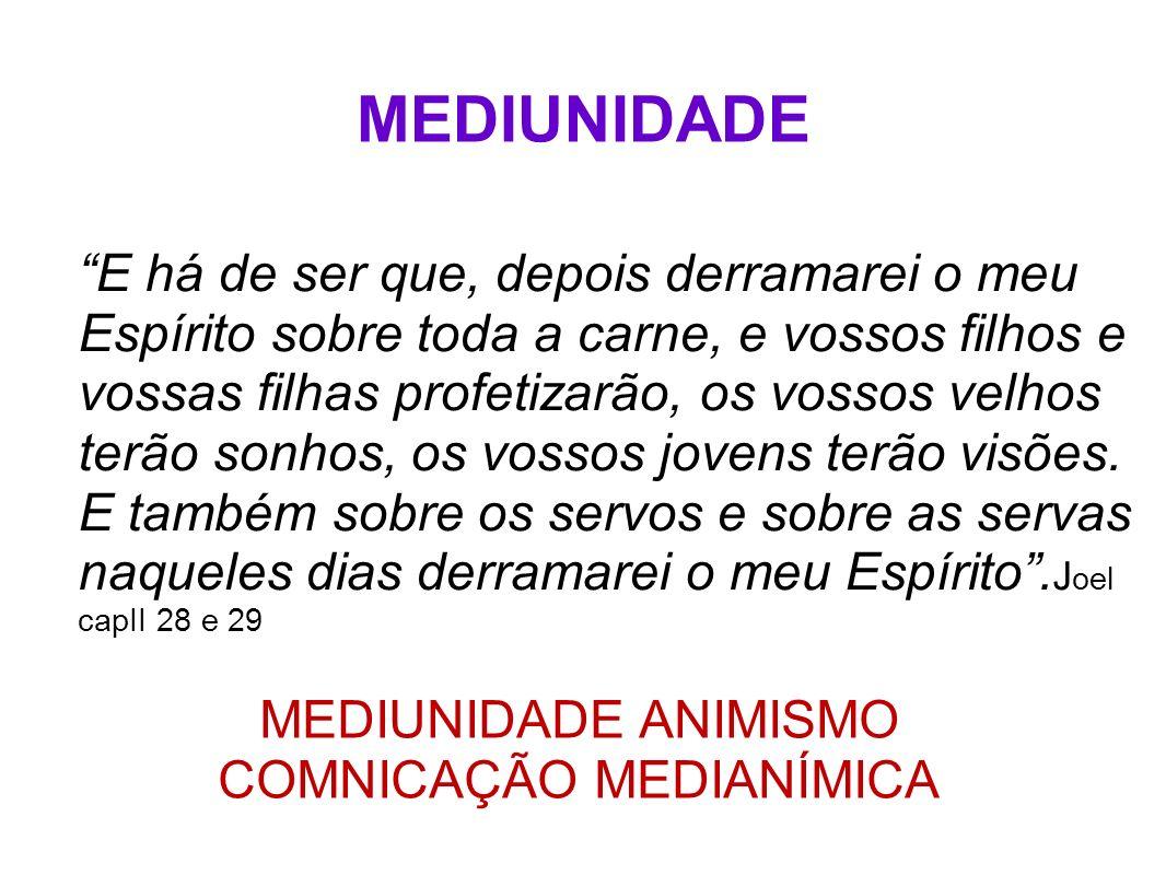 FORMAS DE APRESENTAÇÃO MEDIUNIDADE ANIMISMO OBSESSÃO DISTÚRBIO MENTAL
