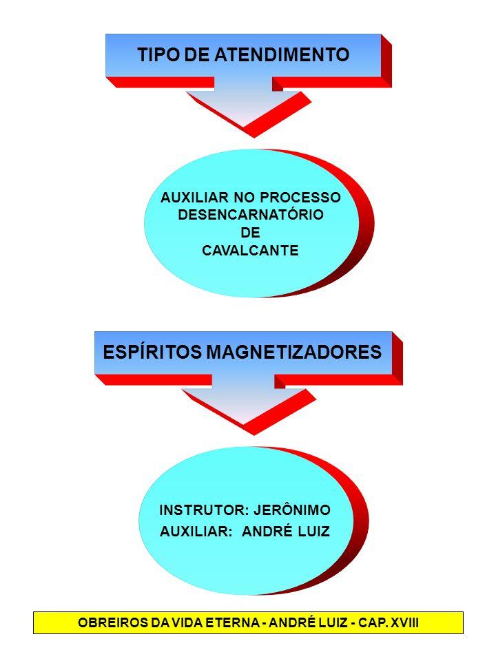 TIPO DE ATENDIMENTO AUXILIAR NO PROCESSO DESENCARNATÓRIO DE CAVALCANTE ESPÍRITOS MAGNETIZADORES INSTRUTOR: JERÔNIMO AUXILIAR: ANDRÉ LUIZ OBREIROS DA V