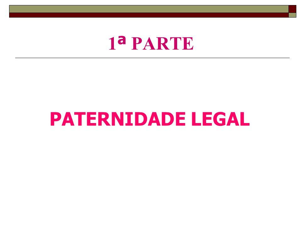 1 ª PARTE PATERNIDADE LEGAL