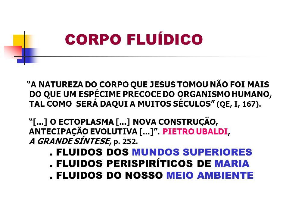 A NATUREZA DO CORPO QUE JESUS TOMOU NÃO FOI MAIS DO QUE UM ESPÉCIME PRECOCE DO ORGANISMO HUMANO, TAL COMO SERÁ DAQUI A MUITOS SÉCULOS (QE, I, 167). [.