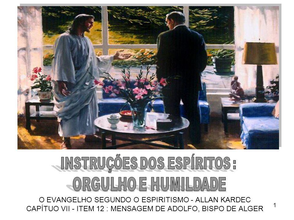 1 O EVANGELHO SEGUNDO O ESPIRITISMO - ALLAN KARDEC CAPÍTUO VII - ITEM 12 : MENSAGEM DE ADOLFO, BISPO DE ALGER