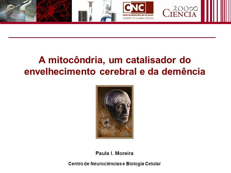 A mitocôndria, um catalisador do envelhecimento cerebral e da demência Paula I. Moreira Centro de Neurociências e Biologia Celular
