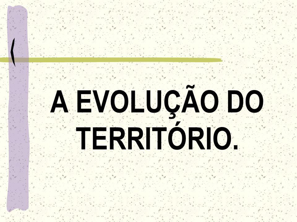 A EVOLUÇÃO DO TERRITÓRIO.