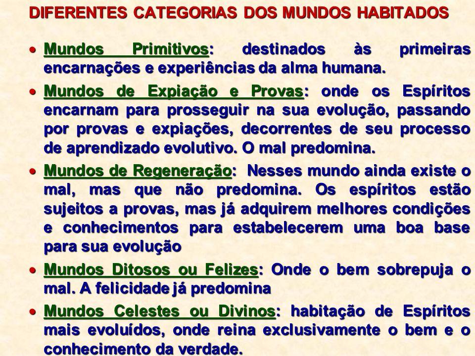 Progressão dos Mundos: Segundo Santo Agostinho,...Progressão dos Mundos: Segundo Santo Agostinho,...Ao mesmo tempo que todos os seres vivos progridem moralmente, progridem materialmente os mundos em que eles habitam.